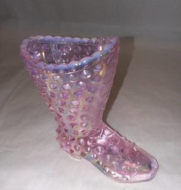 Fenton Clear Pink Hobnail Boot, 4x4""