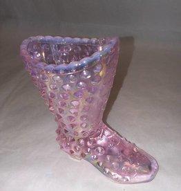 "Fenton Fenton Clear Pink Hobnail Boot, 4x4"""