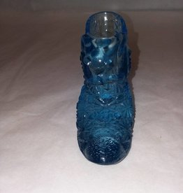 "Fenton Blue Daisy Cat Head Style Slipper, 5.75x2.75"", 2000"