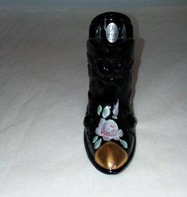 """Fenton Black Rose Design Shoe, 6x2.75"""""""