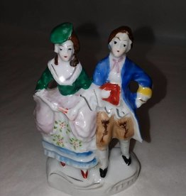 "Porcelain Victorian Couple, Japan, 4"", c.1950"