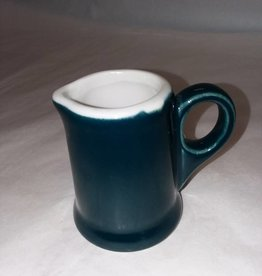 "Small Green ""Hall"" Cream Pitcher, 2.75"""