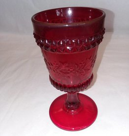 "Ruby Red Goblet, 6"" tall, m.1900's"
