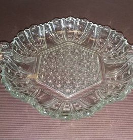 "Cut Glass Candy or Nut Dish, 7.5"", M.1900's"