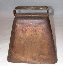 """Copper Cow Bell, 4.5x3.5x4"""", E.1900's"""
