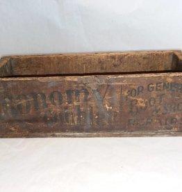 "Wooden Economy Cobbler Box, 15x6x4.5"", 1930's"