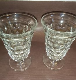 "2 Fostoria Iced Tea Glasses, , 5.75"", 1950's"
