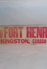 18x6 Old Fort Henry Kingston, Canada c.1960 Cardboard Souvenir Sign
