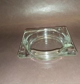 "Glass Cigar / Cigarette Ashtray, 4.25x4.25"", 1950's"