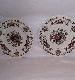 Myott Bouquet Bread Plates, Set of 2, E.1930's