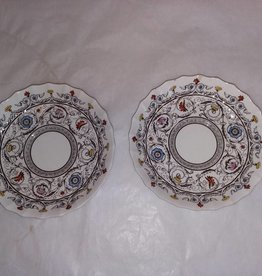 "2 Spode Saucers, Florence Pattern, 5.5"", 1940's"