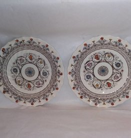 "2 Spode Salad Plates,  Florence Pattern, 8.5"", 1940's"