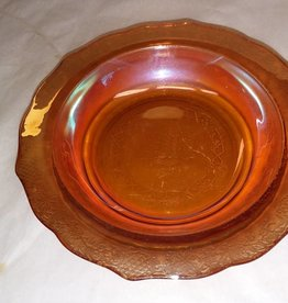 "Carnival Glass Bowl, Marigold, 6.75"", 1950's"