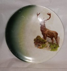 "Stag Plate, 6 7/8"", E.1900's"