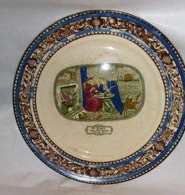 "Oliver Twist Plate, 10.5"", c.1900"