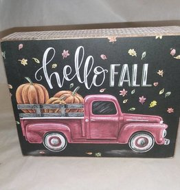 Hello Fall Chalk Sign, 7x5.5""
