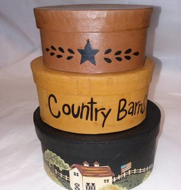 Country Barns Nesting Boxes, Set of 3