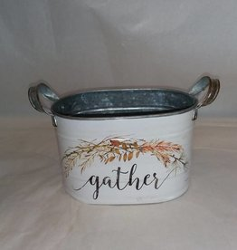 Galvanized Fall Planter, Gather, Small, 7""