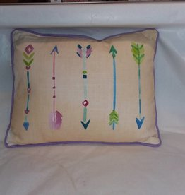 Arrow / Feathers Pillow, 15x12""