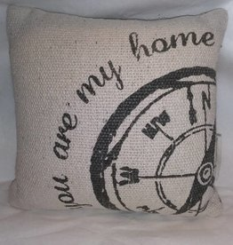 "You Are My Home Pillow, 9""x9"""