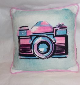"Camera on Pillow, 10""x10"""