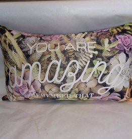 "You Are Amazing Pillow, 17""x10"""