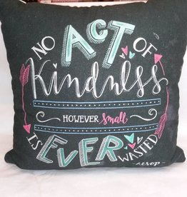 Kindness...Never Wasted Pillow, 15x15""