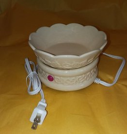 Embossed Wax Melter Ivory