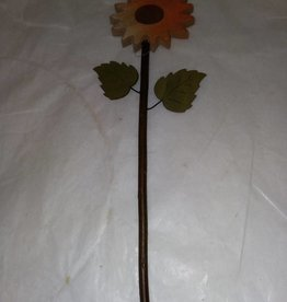 Wood Sunflower Pick, 13""