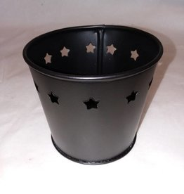 Rustic Pail w/ Stars Votive Holder