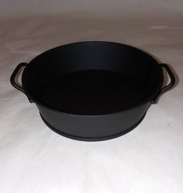 Black Tin Bowl w/ Handles. 5""