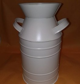 Milk Can, White, 10.5x6""