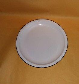 """White Enamelware Plate, 5.5"""" Diameter"""