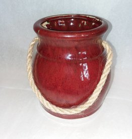 Ceramic Jar w/Rope Handle