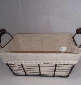 Large Metal / Fabric Basket