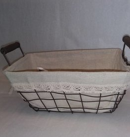 Wire Basket w/Cloth