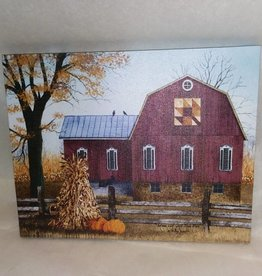 Autumn Leaf Quilt Barn Canvas, 8x10""