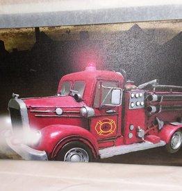 Vintage Fire Truck Canvas