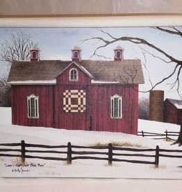 Lover's Knot Quilt Block Barn Canvas, 16x12""