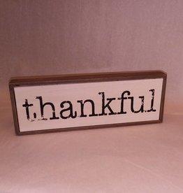 """Thankful Wood Box Sign, 11.75x4.25x1.25"""""""