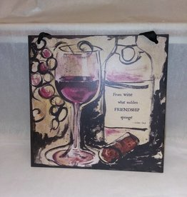 Vino Quote Tile (Wall Tag)