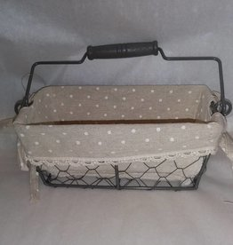 Fabric Covered Wire Basket