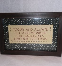 "Today & Always ...Freedom, 12"" x 8"""
