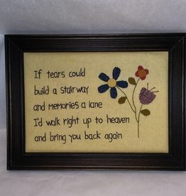 If Tears Could Build a Stairway Stitchery