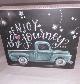 Enjoy the Journey Chalk Sign, 7x5.5""