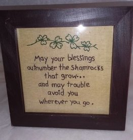 May Your Blessings Outnumber the Shamrocks that Grow Stitchery