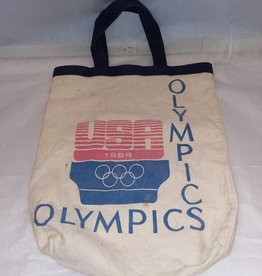 Vintage Olympic Canvas Tote Bag, 1984
