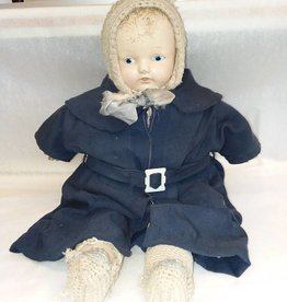 "Antique Doll with NDC Mark, 21"", c.1940's"
