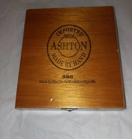"Ashton Wooden Cigar Box, 7""x7.25""x2.25"", c.1970"