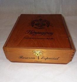 "Classic Hemingway Wooden Cigar Box, 7.25""x7.5""x2.75"""